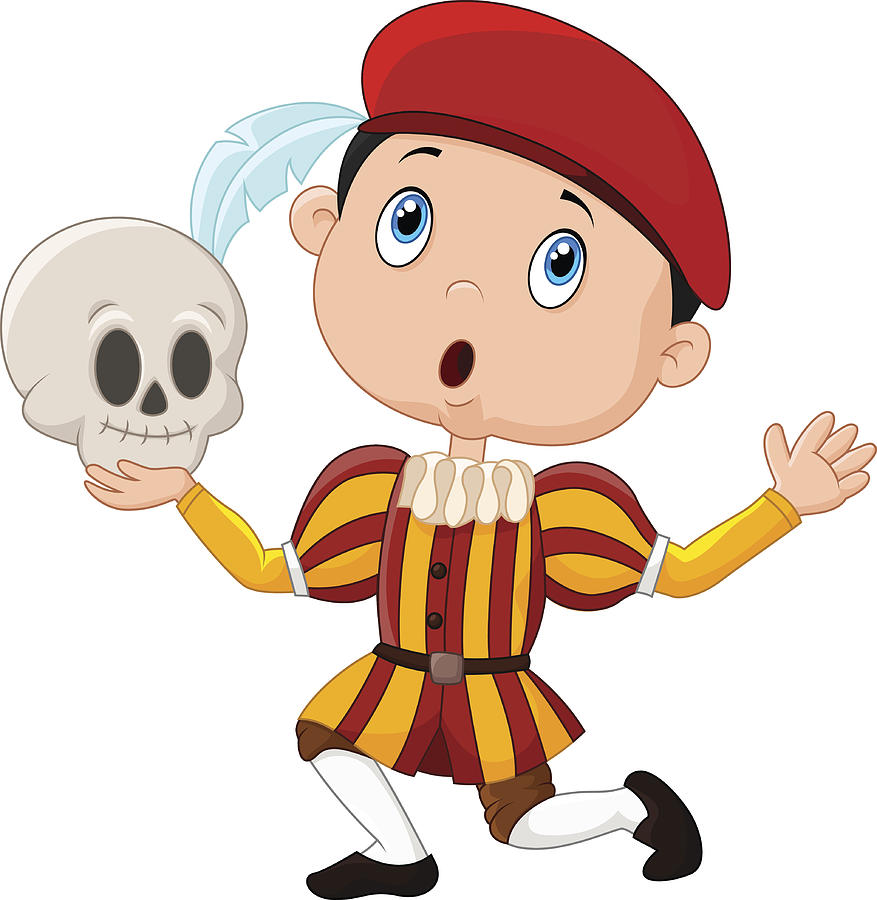 877x900 Little Boy Playing Hamlet In A School Play, Holding A Skull Drawing