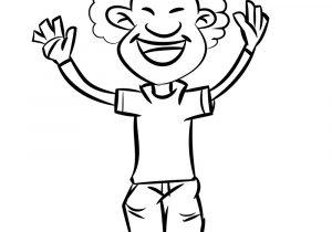 300x210 A Boy Cartoon Drawing Simple Black Nad White Little Boy Drawing