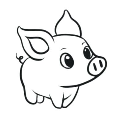 400x400 cute pig drawings cute pig icon cartoon style cute pig drawing