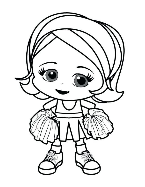 600x776 Drawing Little Girl Coloring For Free Download