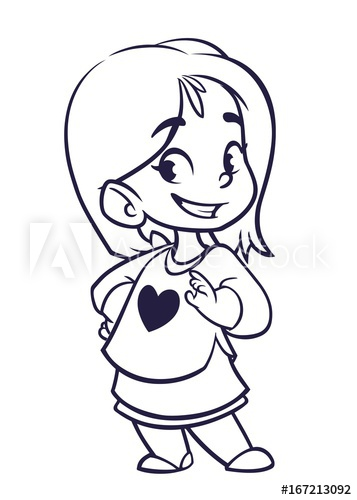 357x500 Huge Collection Of 'little Girl Cartoon Drawing' Download More