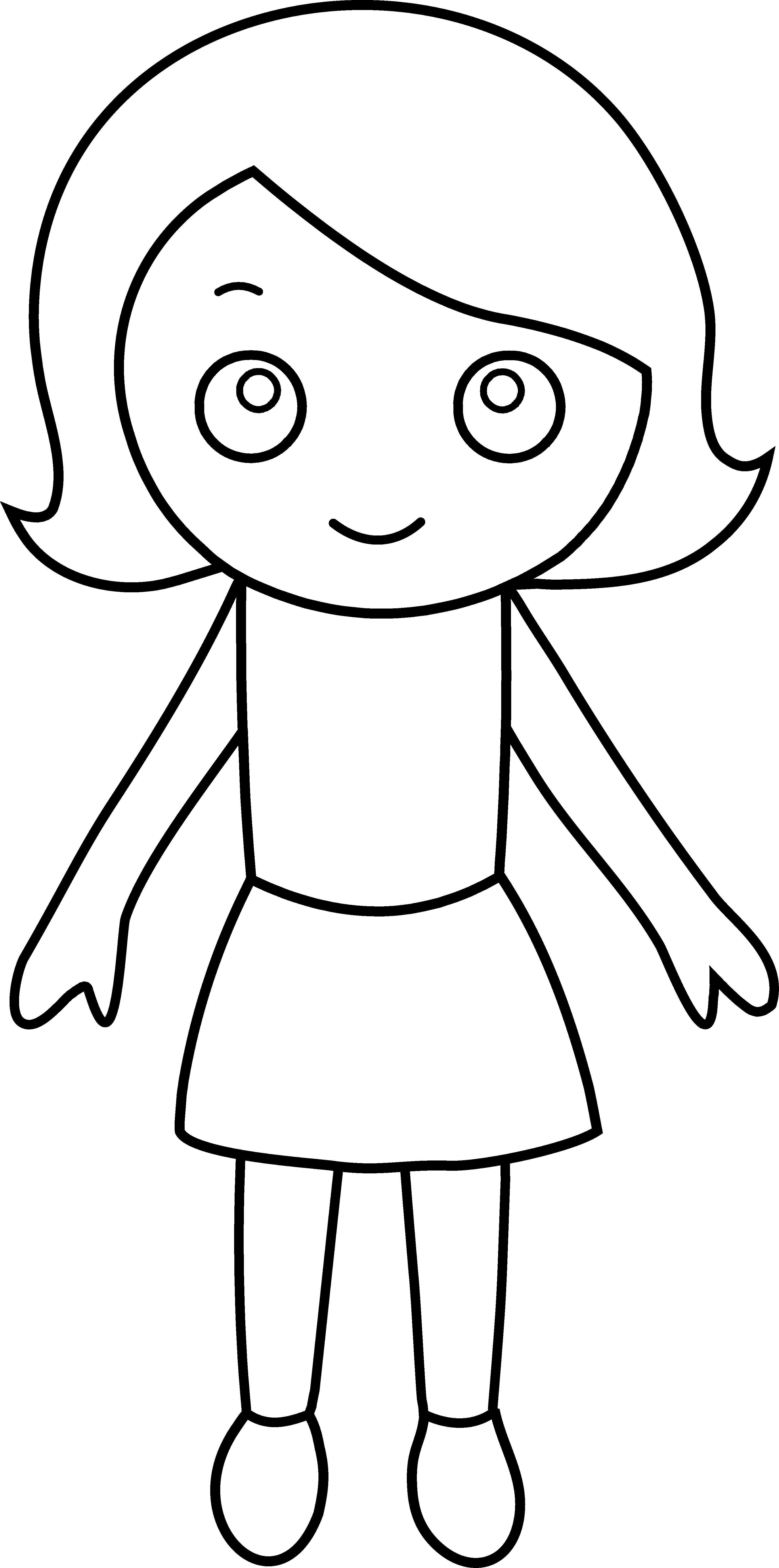 3261x6568 Little Girl Coloring Pages Characters Printable