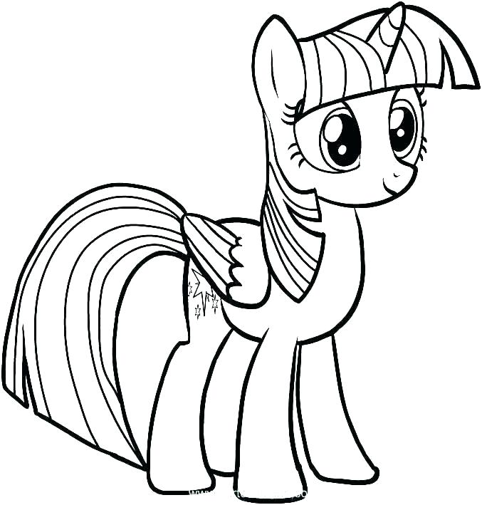 677x709 My Little Pony Drawings Coloring My Little Pony The Friends