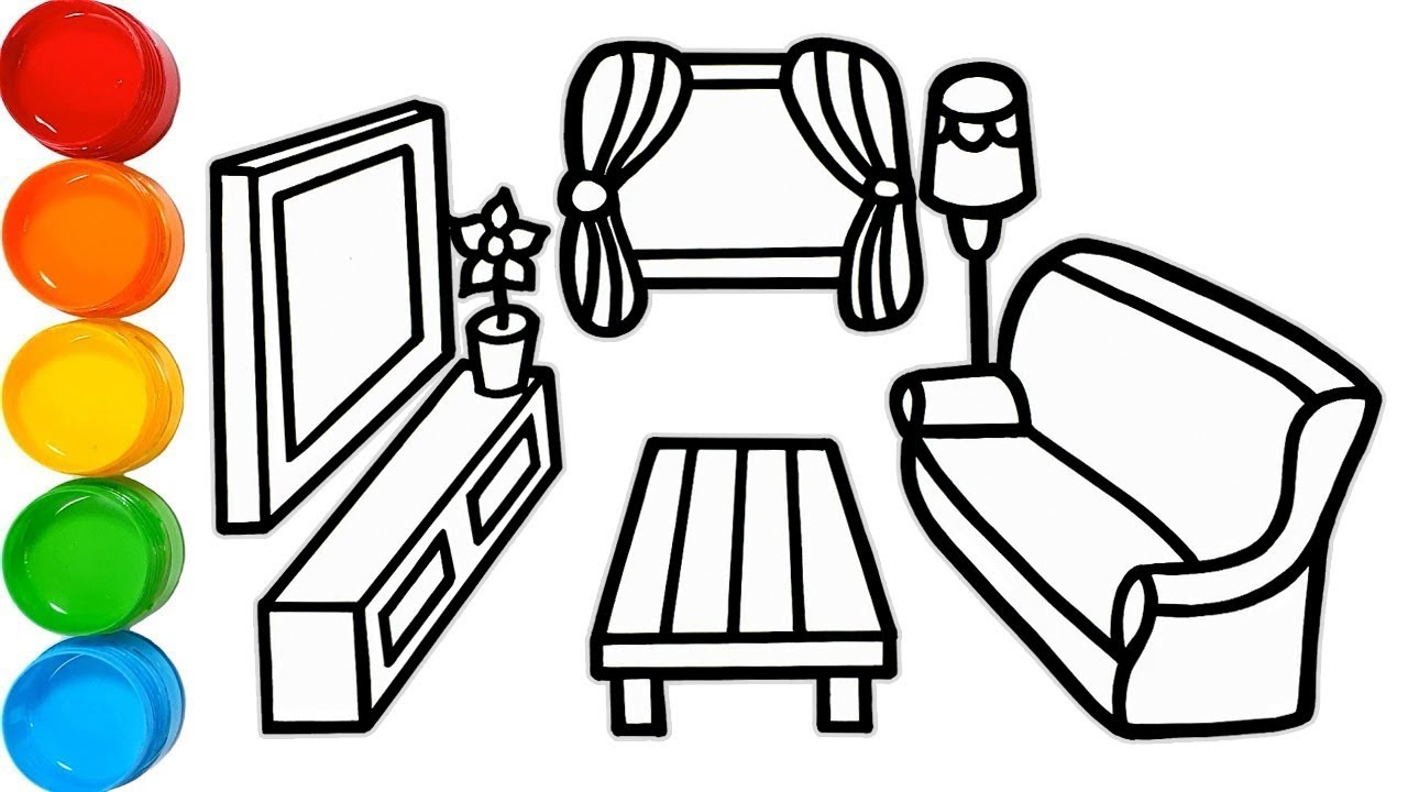 Living Room Drawing | Free download on ClipArtMag