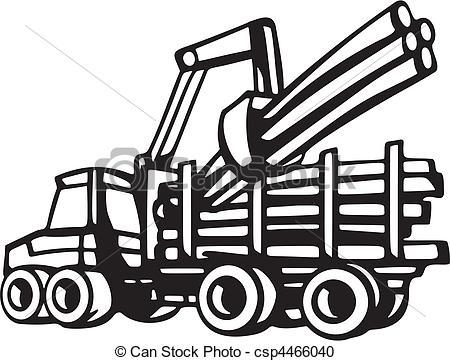 Log Truck Drawing