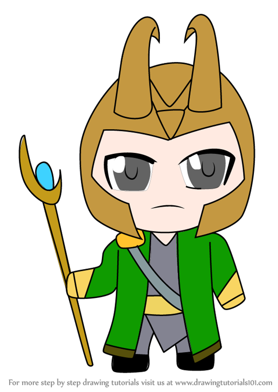 567x800 learn how to draw kawaii loki