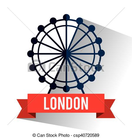450x470 isolated london eye design eye wheel icon london england