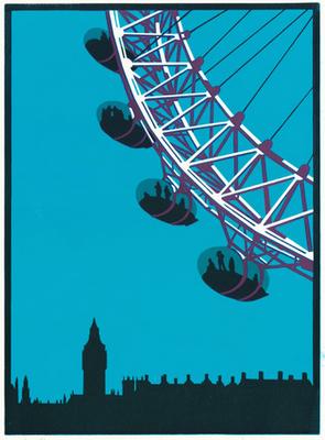 295x400 london eye paul catherall printmaking london drawing, london