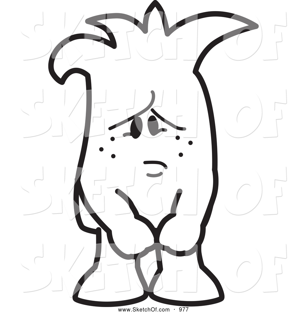 1024x1044 Drawing Of A Black And White Sad And Lonely Squiggle Guy