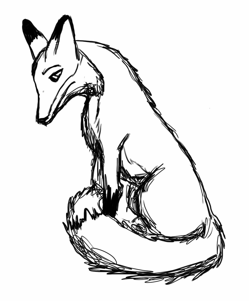961x1159 Lonely Drawing Fox For Free Download
