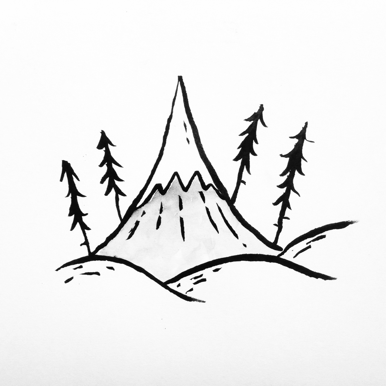 1280x1280 Lonely Mountain Artrandom Stuff Tumblr Drawings, Drawings