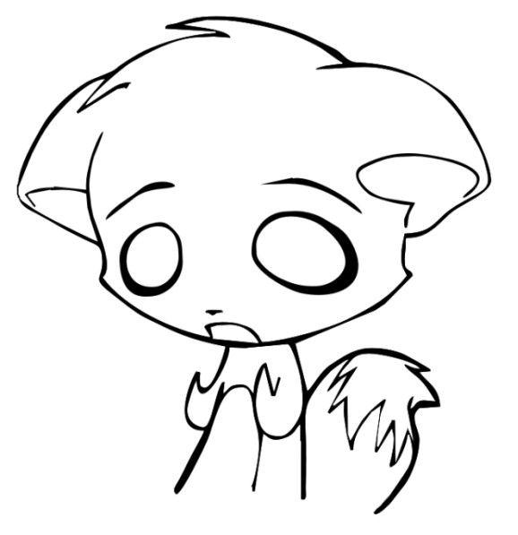 578x597 My Lonely Fox