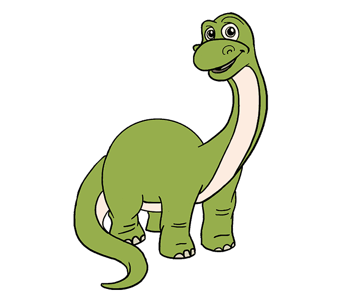 678x600 How To Draw A Cartoon Dinosaur Easy Step