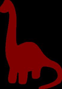207x297 Long Necked Dinosaur Silhouette Clip Art Silhouettes Dinosaur