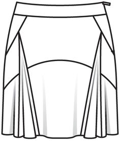 Long Skirt Drawing