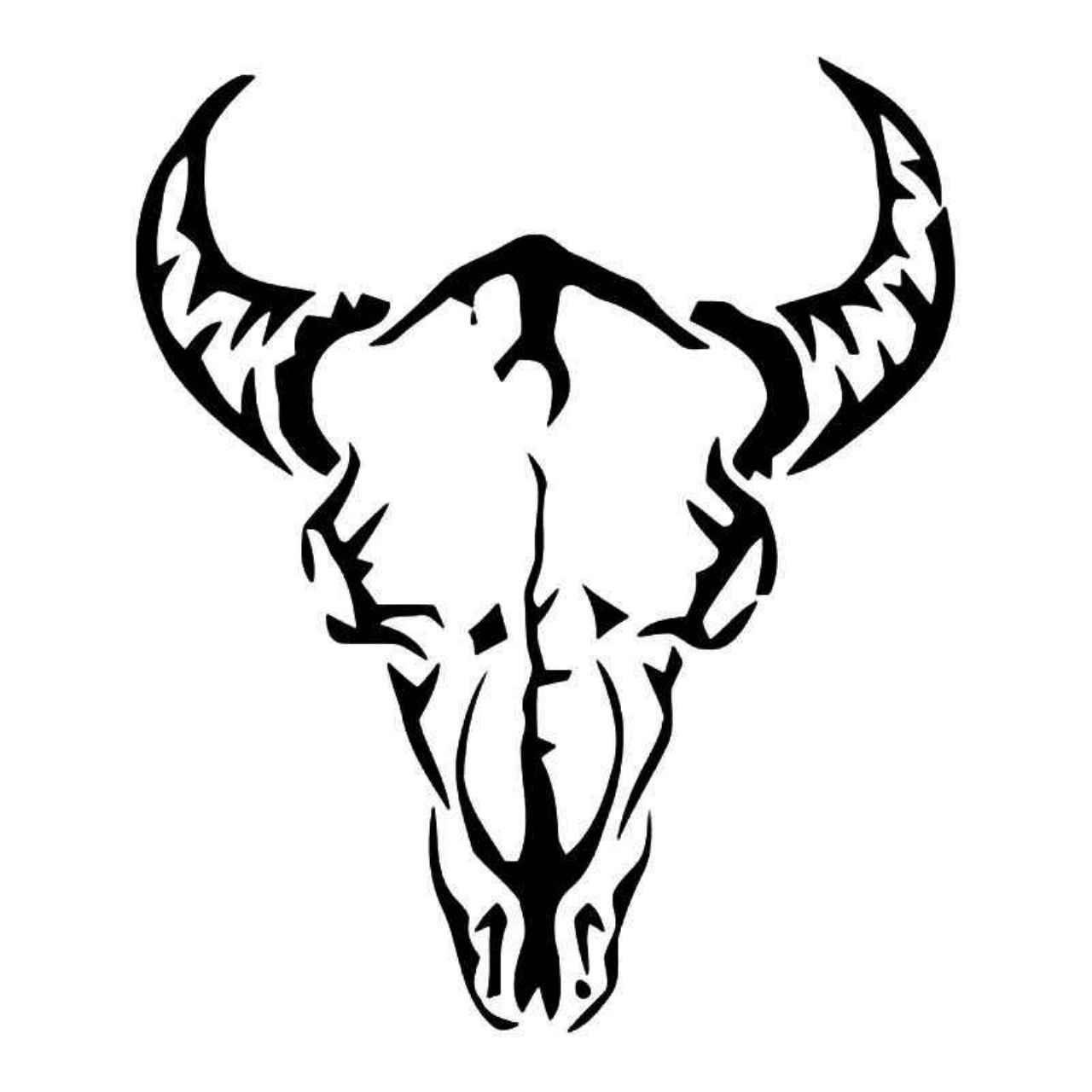 1280x1280 tribal longhorn cow skull vinyl decal sticker vinyl ideas cow