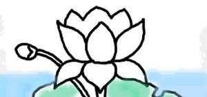300x140 How To Draw A Lotus Flower On A Computer Drawing Illustration