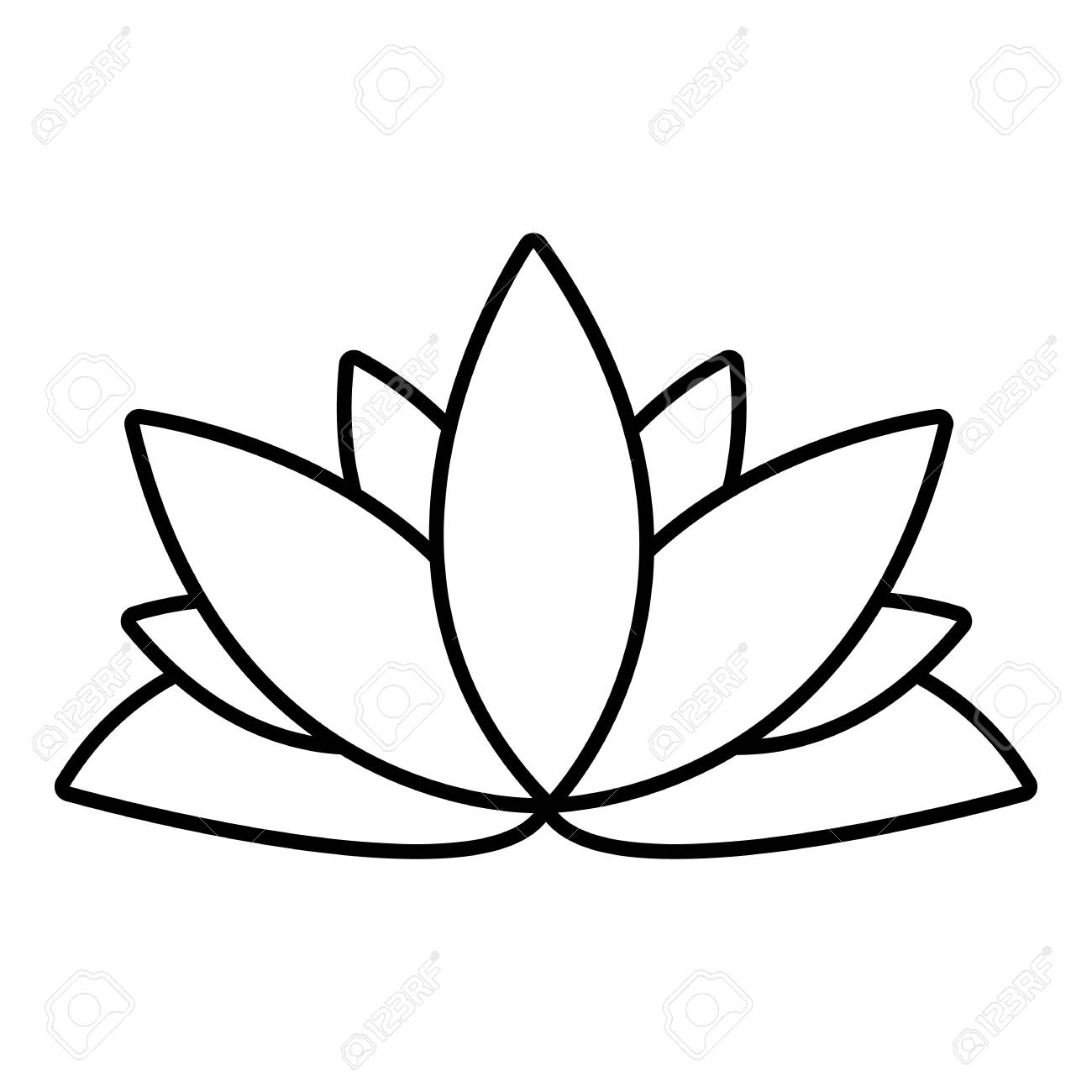 1300x1300 Lotus Outline Lotus Flower Icon Outline Illustration