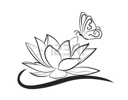 450x353 Lotus Drawing Lotus Drawing Mantras Library Lotus Flowers Drawings