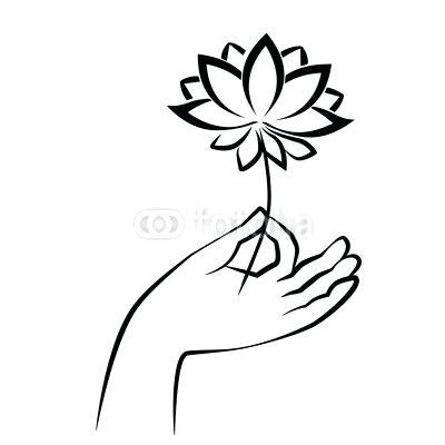 400x400 lotus sketch hand of holding lotus sketch drawing lotus sketch pen