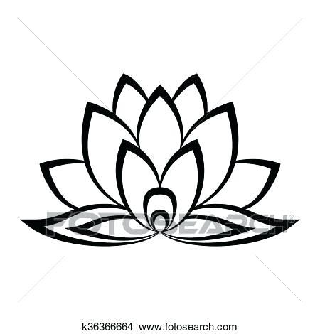 450x470 Simple Lotus Drawing