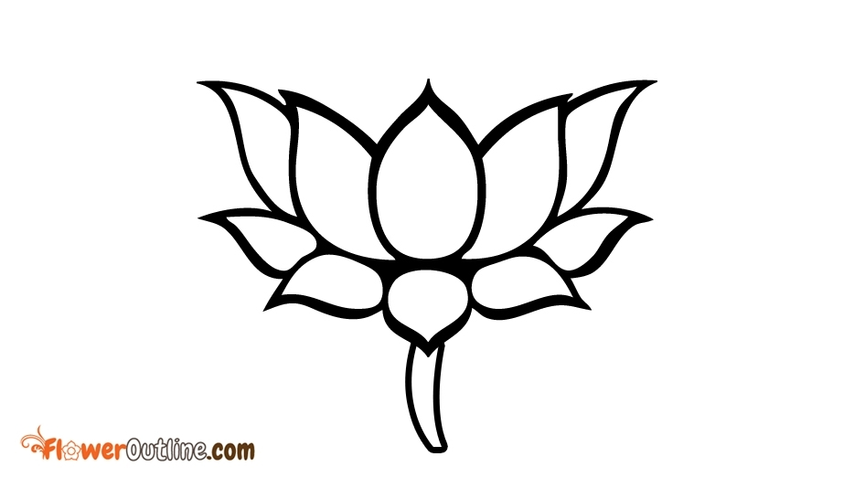 934x534 Lotus Drawing Outline For Free Download