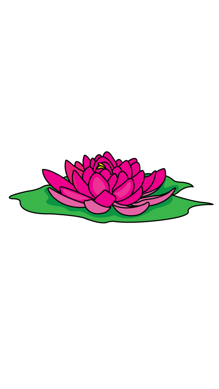720x1280 How To Draw A Lotus, Easy Step
