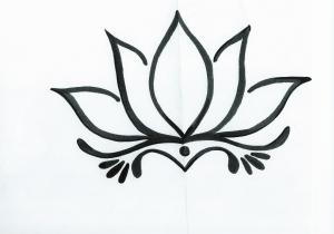 300x210 Lotus Flower Drawing Step