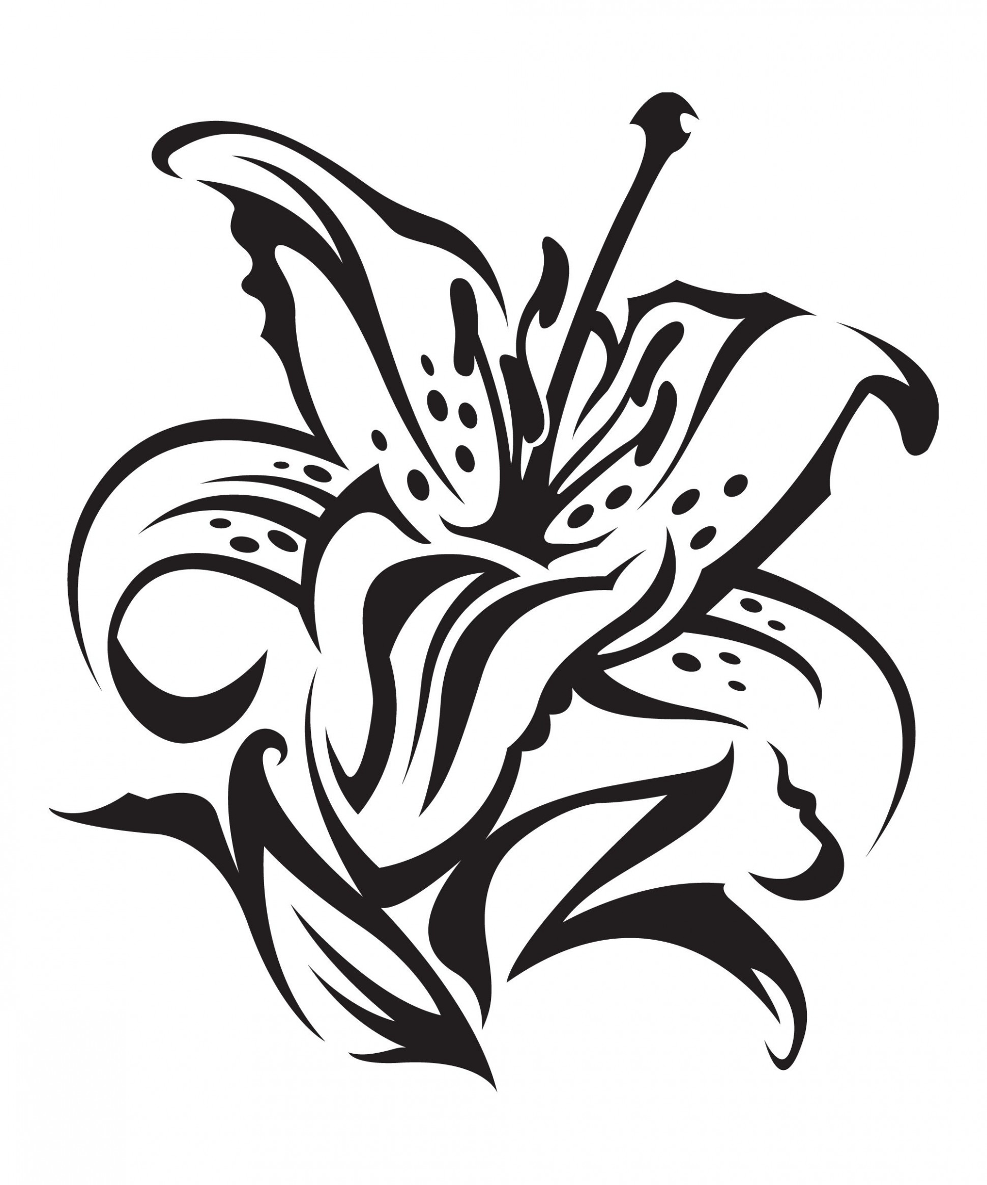 1940x2328 Black And White Pencil Flower Tattoo Simple Vine Drawing Lotus