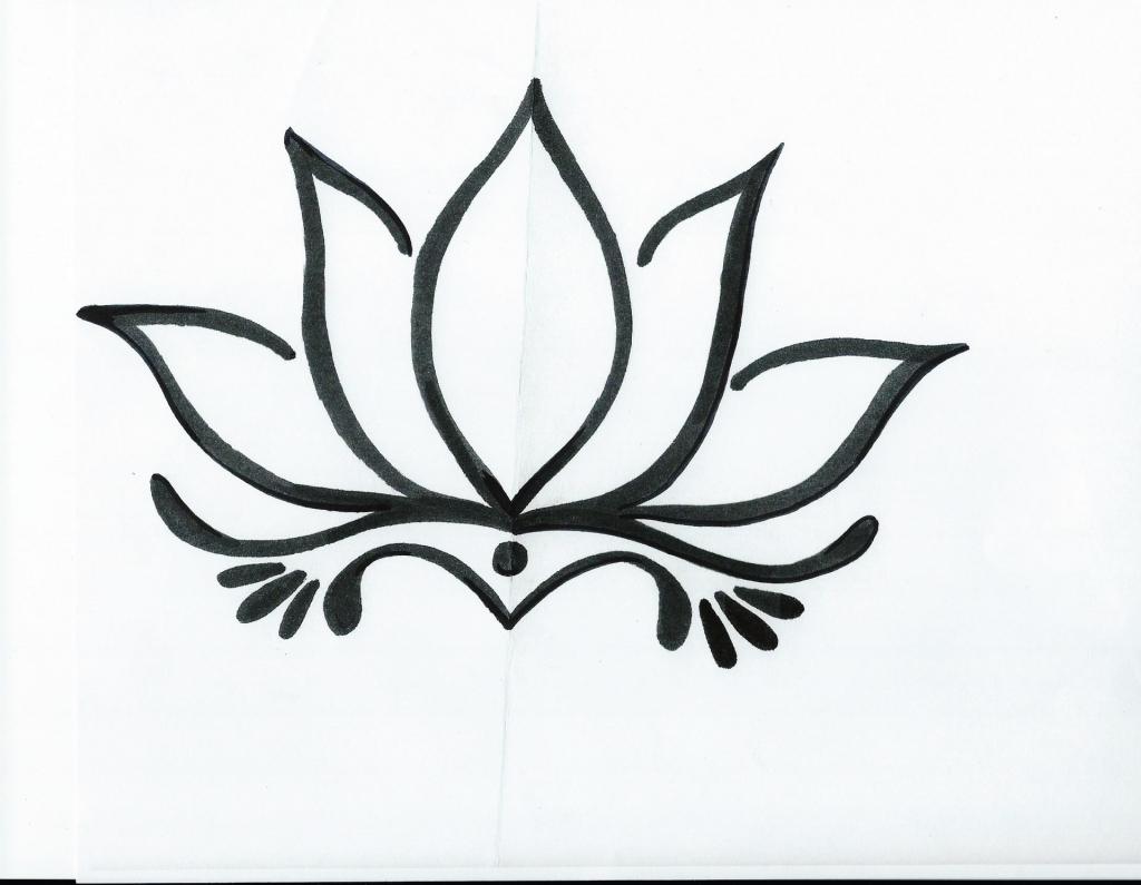 1024x795 Lotus Flower Simple Sketch