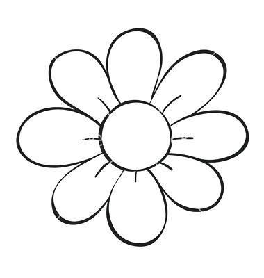 380x400 Simple Line Drawings Of Flowers Flower Drawing Simple Line