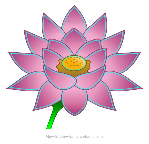 520x504 How To Create A Lotus Flower Drawing