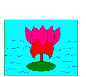 300x268 How To Draw Lotus Tutorial Designed For Small Kids