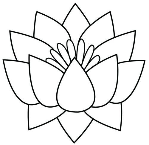 500x485 Perfect Lotus Flower Black And White Or Clip Art Black And White