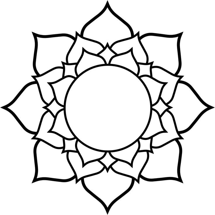 736x736 Lotus Black White Line Art Tattoo Tatoo Flower