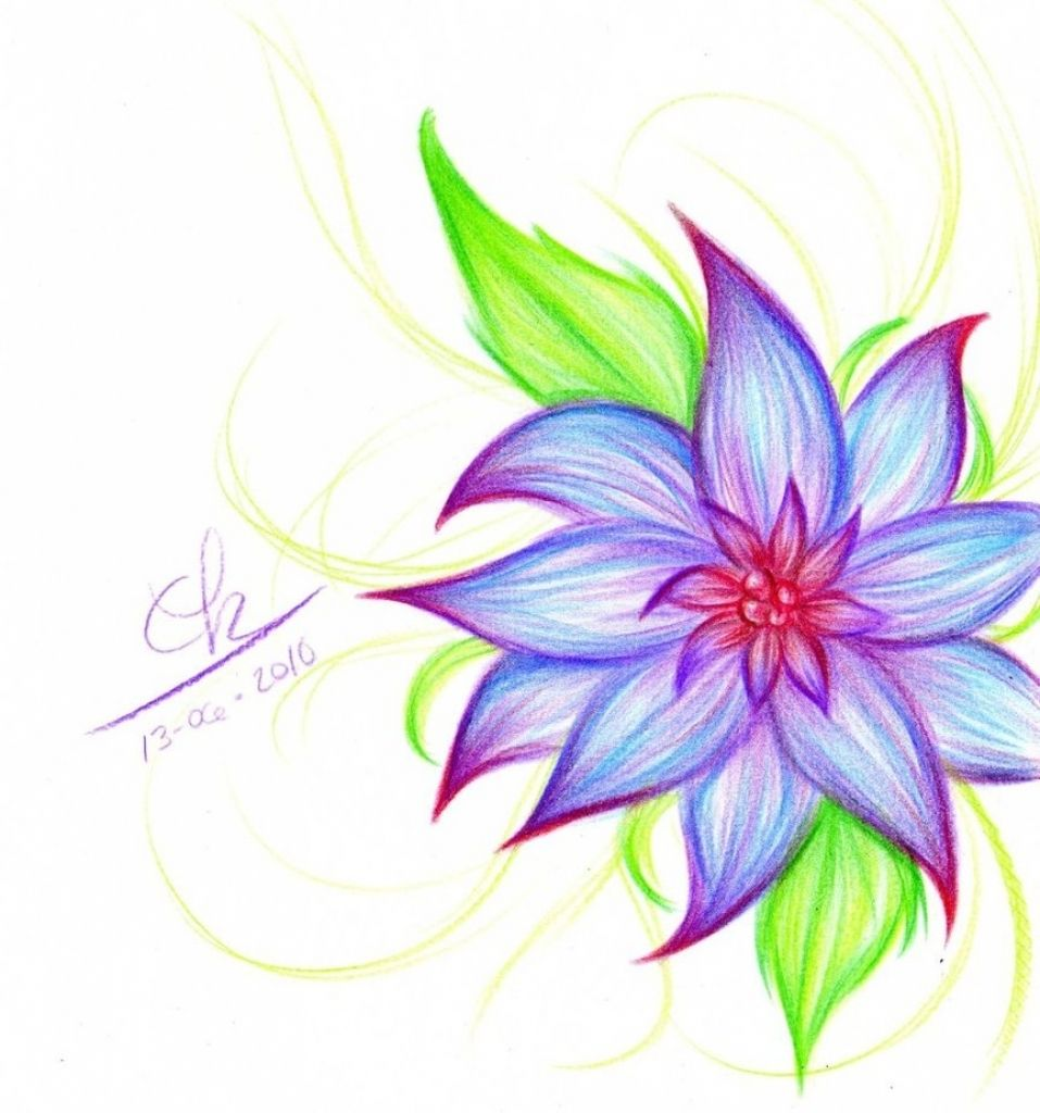 957x1024 Drawings Of Flowers Flower Drawing Clipartsco