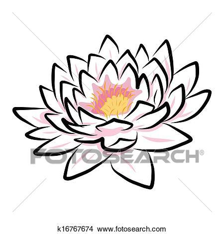 450x470 Lotus Flower Drawing