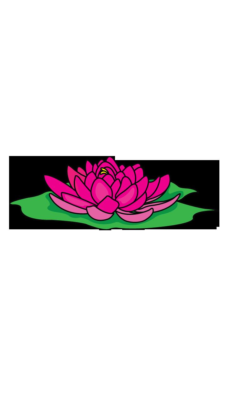 720x1280 Tropical Drawing Lotus Flower Huge Freebie! Download