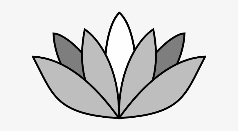 820x451 Greyscale Lotus Flower Clip Art