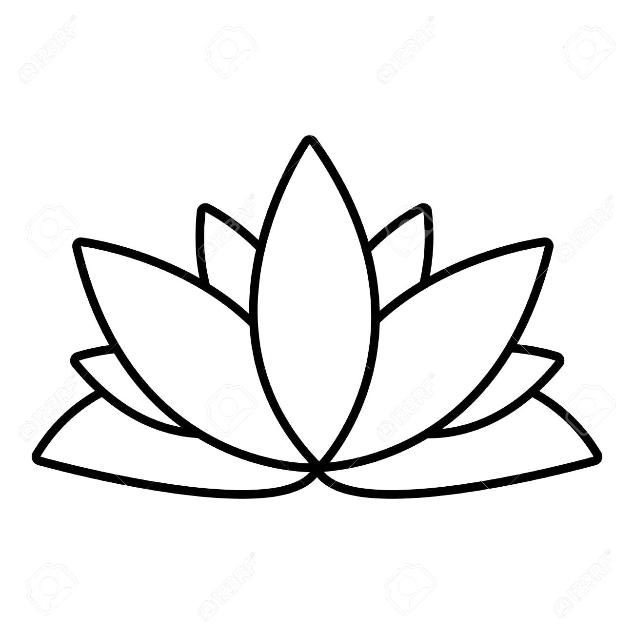 1300x1300 Drawing With Outline Lotus Flower Decorative Lace
