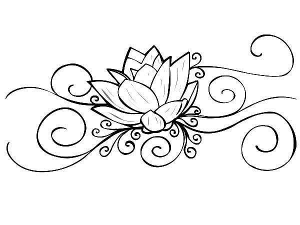 600x450 Lotus Flower Drawings For Tattoos Lotus Flower Coloring