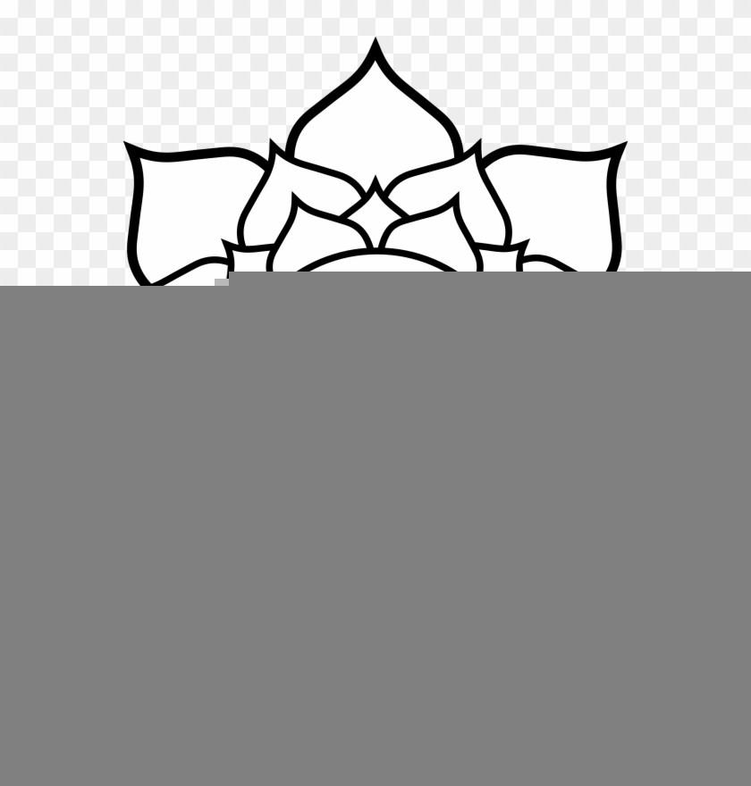 840x880 Lotus Flowers Line Drawings