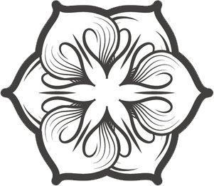 301x262 Black And White Elegant Hawaiian Lotus Flower Drawing