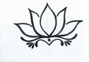 300x210 drawn lotus flower simple lotus flower drawing simple lotus flower