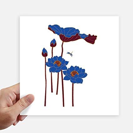 425x425 Diythinker Blue Lotus Leaf Lotus Flower Dragonfly