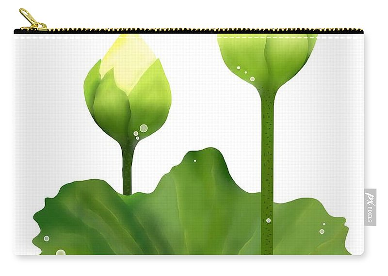 800x570 Fresh White Lotus Flowers And Leaf On White Background Carry All