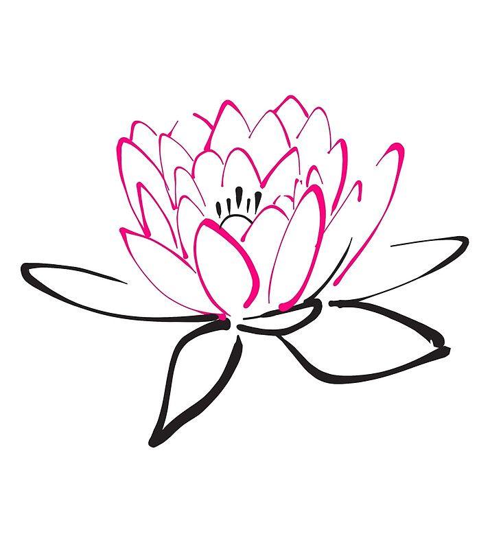 714x800 Lotus Sketch Drawstring Bag Drawing Practice Lotus Tattoo