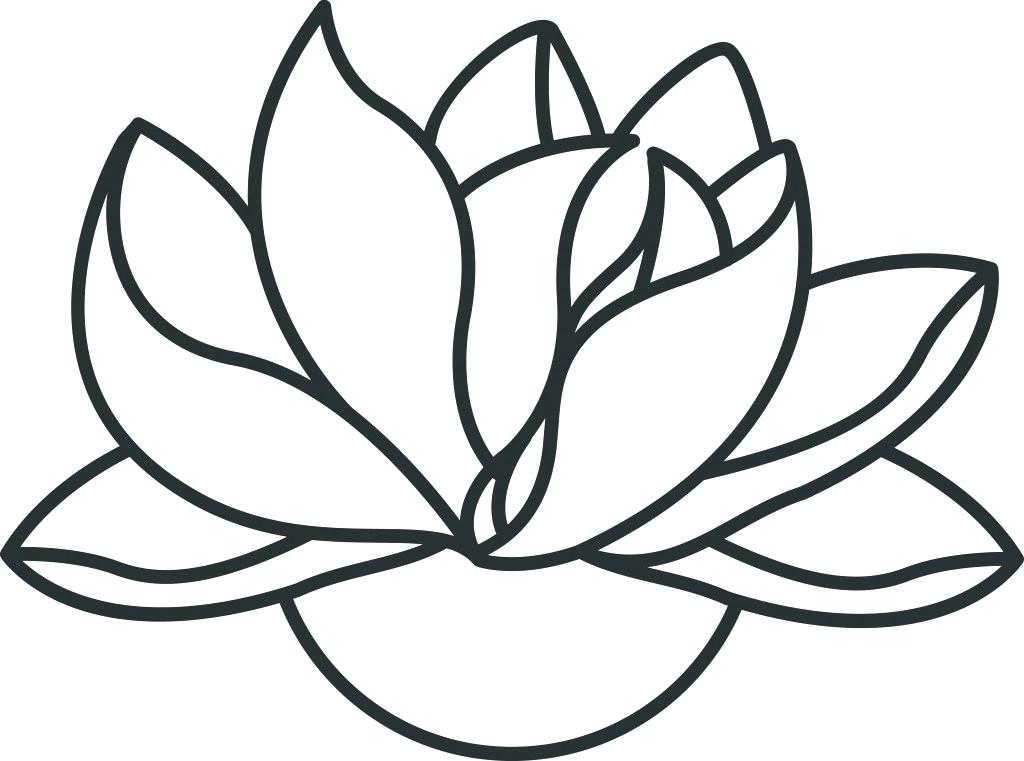 1024x761 Simple Images To Draw Simple Lotus Flower Simple Lotus Drawing How