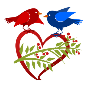 300x300 Free Clipart Images Love Birds