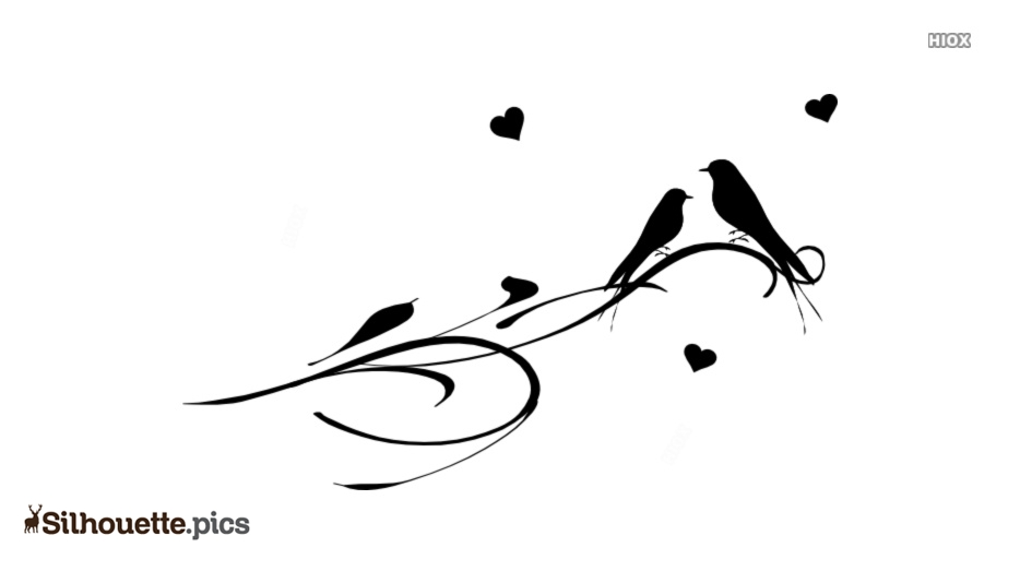 934x534 Love Birds Drawing Silhouette Vector, Clipart Images, Pictures